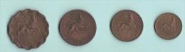 Etiopia 4 Monete Rame  Diverse - Etiopia