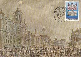 D20775 CARTE MAXIMUM CARD FD 1982 NETHERLANDS - ROYAL PALACE DE DAM AMSTERDAM CP ORIGINAL - Architecture