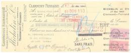MANDAT.  PUY DE DOME CLERMONT-FERRAND CAOUTCHOUC MANUFACTURE BARBIER DAUBREE / J G BIDEAU / MICHELIN ET Cie 1940 /44 - Letras De Cambio