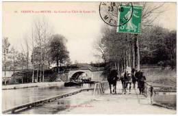 Verdun Sur Meuse - La Canal Au Clair De Lune ( Péniche / Halage ) - Verdun