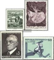 Austria 1232,1233,1234,1235 (complete Issue) Unmounted Mint / Never Hinged 1967 Structures, Waltz, Schönherr, Eishoc - 1945-.... 2nd Republic
