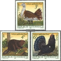 Austria 1717-1719 (complete Issue) Unmounted Mint / Never Hinged 1982 Conservation - 1945-.... 2nd Republic