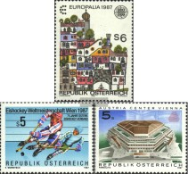 Austria 1876,1877,1878 (complete.Expenditure) Unmounted Mint / Never Hinged 1987 Special Stamps - 1945-.... 2nd Republic