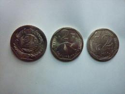 Lot de 3 pi�ces de 2 francs comm�moratives Guynemer Pasteur Droits de l'Homme