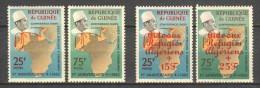 Guinee 1962 Mi 100-101 + 143-144A MH  MAPS - Guinee (1958-...)