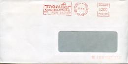 EMA Secap NA-25968 Manufer,manufacture De Fer Forgé,86 Dange St Romain,Vienne,lettre Obliterée 27.6.1984 - Usines & Industries