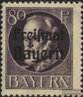 Bavaria 164A Unmounted Mint / Never Hinged 1919 King Ludwig With Print - Bavaria