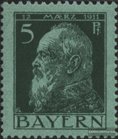 Bavaria 77II X, With Vertical Gummiriffelung Unmounted Mint / Never Hinged 1911 Prince Regent Luitpold - Bavaria