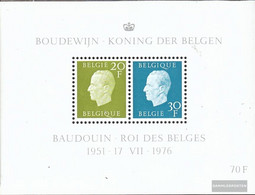 Belgium Block45 (complete Issue) Unmounted Mint / Never Hinged 1976 King Baudouin - Blocks & Sheetlets 1962-....