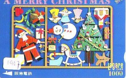 Carte Prépayée Japon NOËL (1907) MERRY CHRISTMAS  Prepaid Card Japan * Karte WEIHNACHTEN JAPAN * KERST NAVIDAD - Navidad