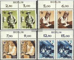Berlin (West) Mi.-number.: 342-345 Bogenzudruck (complete Issue) Unmounted Mint / Never Hinged 1969 Post Congress - [5] Berlin