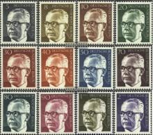 Berlin (West) 359-370 (complete.issue) Fine Used / Cancelled 1970 Gustav Heinemann - [5] Berlin