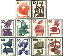 Berlin (West) 402A-411A (complete.issue) Unmounted Mint / Never Hinged 1971 Accident Prevention - Unused Stamps