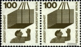 Berlin (West) 410A Securities Horizontal Couple Unmounted Mint / Never Hinged 1971 Accident Prevention - Unused Stamps