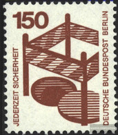 Berlin (West) 411A Ra With Black Counting Number Unmounted Mint / Never Hinged 1972 Accident Prevention - Unused Stamps