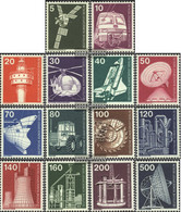 Berlin (West) Mi.-number.: 494-507 (complete.issue) Unmounted Mint / Never Hinged 1975 Industry And Technology - Unused Stamps