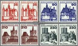 Berlin (West) Mi.-number.: 587wP-590wP Horizontal Couples (complete Issue) Unmounted Mint / Never Hinged 1978 Fortresses - Unused Stamps
