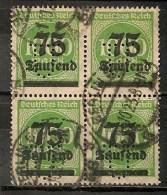 Timbres - Allemagne - Empire - 1923 - 4 Timbres 75 Lautend Sur 1000 Mark  -  Perforé - - Allemagne