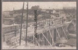 55 - SAINT MIHIEL--La Réfection Du Vieux Pont--le Troittoir Commence A Se Montrer C'est Deja Qquelque Chose ...animé - Saint Mihiel