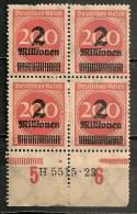 Timbres - Allemagne - Empire - 1923 - 4 Timbres De 2 M. Sur 220 Mark  - - Allemagne