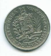 VENEZUELA - PIECE DE 1 BOLIVAR - 1967 - Venezuela