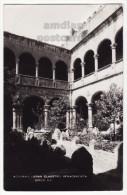 MEXICO ACOLMAN SAN AGUSTIN CONVENT, GRAND RENNAISANCE CLOISTER 1950s Real photo postcard RPPC [5914]