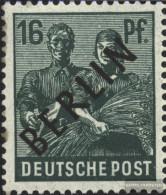 Berlin (West) 7 Unmounted Mint / Never Hinged 1948 Black Imprint - Neufs