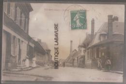 27 - TOURNY--la Poste Et Route De Guitry--facteur A Vélo--animé - Francia