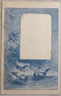 Litho Illustrateur GIACOMELLI Langage Des Mois De Annee Aout Oiseau Oiseaux Fleurs Se Lavant  Riviere Dos Simple Top - Other Illustrators
