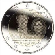 """2 EURO 2015 """"15° Anniv. Ascesa Al Trono Del Granduca Henri"""" - Luxembourg"""