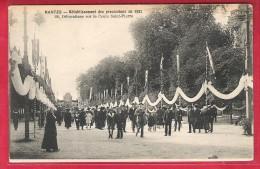 44-Nantes-Rétablissement Des Procéssions En 1921,décorations Sur Le Cours Saint Pierre-cpa Non écrite - Nantes