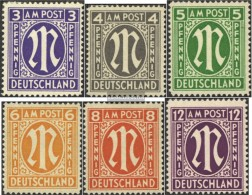 Bizonal (Allied Cast) 10-15 (complete Issue) Unmounted Mint / Never Hinged 1945 On-Post - American/British Zone
