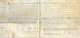 Lettre De Ratification Sur Parchemin Pour Une Cession De Propriété - May 1777 à Beaugé (Maine Et Loire) - Avec Sceau - Manuscripts