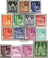 Bizonal (Allied Cast) 73-97 (complete Issue) Tight Dentate Unmounted Mint / Never Hinged 1948 Buildings - American/British Zone