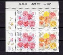 France 2015.Coins Datés.Lyon Roses 2015.Diptyque Congrès Mondial Des Sociétés De Roses - 2010-....