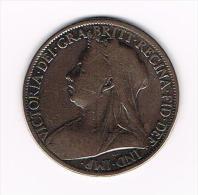 ***GREAT BRITAIN  1 PENNY 1901  VICTORIA - 1816-1901: 19. Jh.