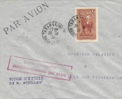 28-10-1936, Tananarive - Belo Sur Tsiribihina Voyage D'études Assolant - Airmail