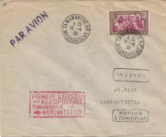 Première Liaison Aéropostale Tananarive - Maroantsetra - Airmail