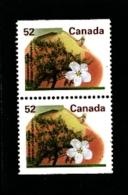CANADA - 1995   52c  TREES  PAIR  FROM  BOOKLET  MINT NH - 1952-.... Regno Di Elizabeth II