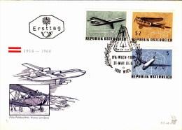 FDC Serie Flugpost ÖS 2,- 3,50 5,- Mit Sstpl IFA Wien1968 - FDC