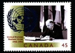 CANADA - 1995   ANNIVERSARY OF UNITED NATIONS  MINT NH - 1952-.... Regno Di Elizabeth II
