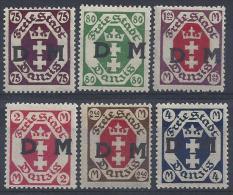 Germany (Danzig) 1922 Dienstmarken  (*) MH  Mi.15-20 - Danzig