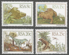 South Africa. 1982 Karoo Fossils. Dinosaurs. MNH Complete Set. SG 532-535 - South Africa (1961-...)