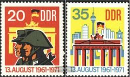 DDR 1691-1692 (complete.issue) Unmounted Mint / Never Hinged 1971 Berlin Wall - [6] République Démocratique