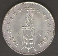 ALGERIA 5 DINARI 1972 10th Anniversary Of Independence AG SILVER - Algeria