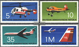 DDR 1749-1752 (complete.issue) Unmounted Mint / Never Hinged 1972 Aircraft Types - [6] Democratic Republic