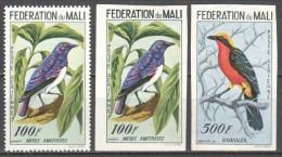 Mali 1960 Mi 3A + 3B + 5B MH BIRDS - Birds