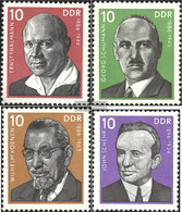 DDR 2107-2110 (complete.issue) Unmounted Mint / Never Hinged 1976 Personalities - [6] Democratic Republic