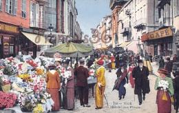 (06) Nice - Le Marché Aux Fleurs - 2 SCANS - Marchés, Fêtes