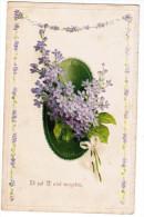 CPA Ik Zal U Niet Vergeten, Fleurs, Flowers , Relief, Gaufrée (pk21048) - Autres